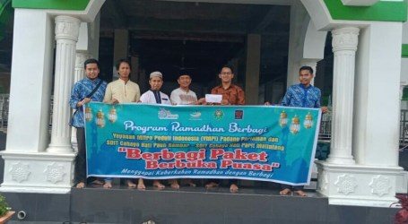 YMPI Berbagi Paket Berbuka Puasa di Masjid Jihad Kabun