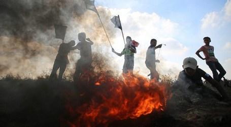 Perbatasan Gaza: Jip Tentara Dibakar, 50 Warga Luka, 14 Lahan Israel Terbakar