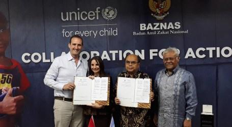 Baznas dan Unicef Kerja Sama Bantu Anak Korban Krisis Kemanusiaan