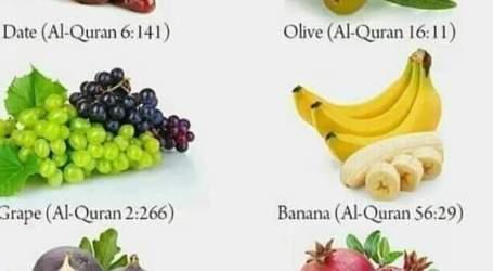 Enam Buah Dalam Al-Qur'an dan Manfaat Bagi Kesehatan (Bagian.1)