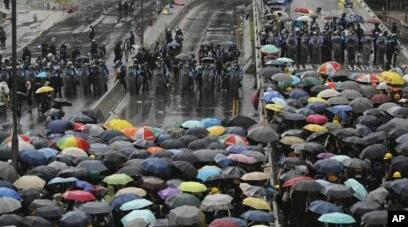 Peringatan Hari Serah Terima Hong Kong Diwarna Aksi Protes