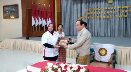 Serah Terima RS Indonesia di Myanmar