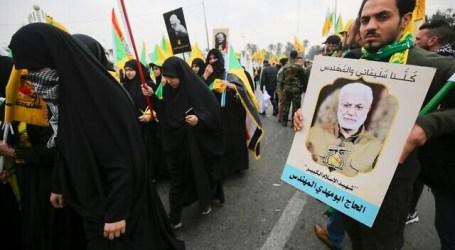 """Ribuan Pelayat Irak Teriak """"Kematian bagi Amerika dan Israel"""""""
