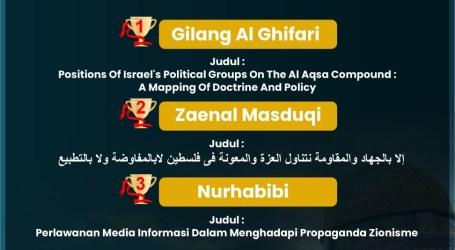Wartawan MINA Juara Karya Tulis Ilmiah Raid Shalah Award