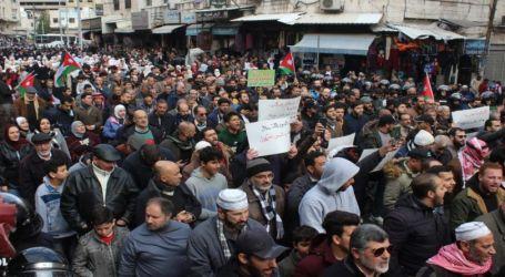 Ribuan Warga Yordania Demo Menentang Perjanjian Gas Israel