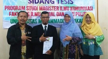 Perjuangan Imam Santoso Raih Master Ilmu Komunikasi: Pengaruh Branding Islam dan Religiusitas Individu