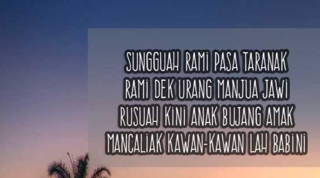 Pantun bahasa Padang bikin ngakak