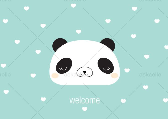 WELCOME_GIRL_Panda_askaelle_minasan_portfolio