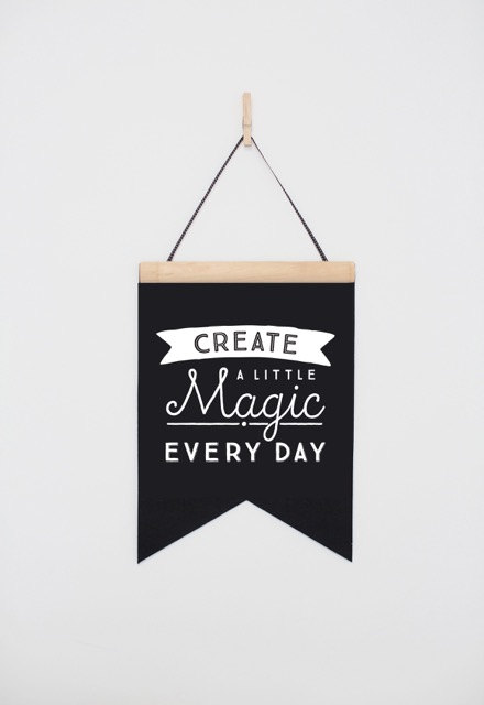 Bannière Create Magic Every Day