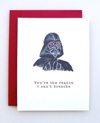 Carte st-valentin Dark vador AvEHdesigns