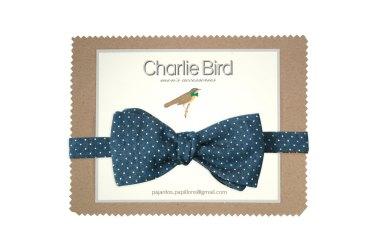 Noeud papillon réversible à pois et carreaux - Charlie bird bowties