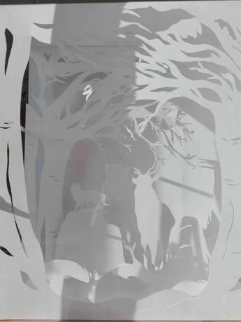 lafabriq, vitrine de Noël - La forêt enchantée