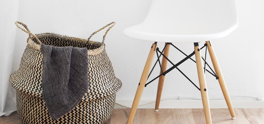 o trouver des paniers d co en fibres v g tales bicolores. Black Bedroom Furniture Sets. Home Design Ideas
