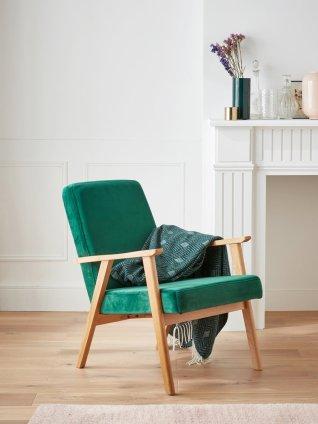 fauteuil-retro-en-chene-et-velours