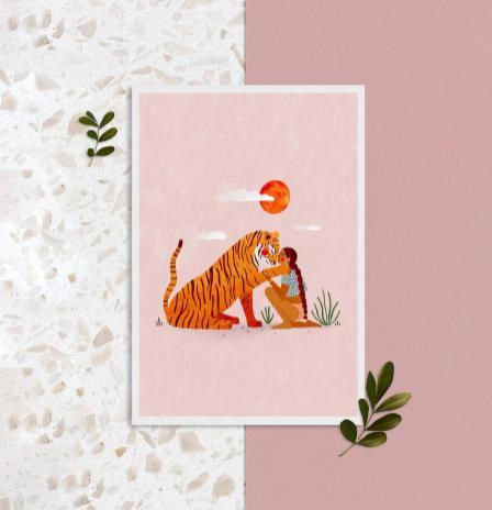 poster a4 tigre