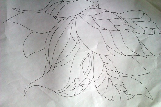 drawing of leaves