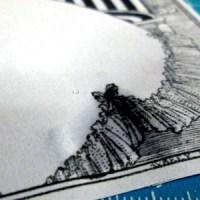 インクジェットプリンターでプリントアウトした紙を薄くはがしてデコパージュしようとした