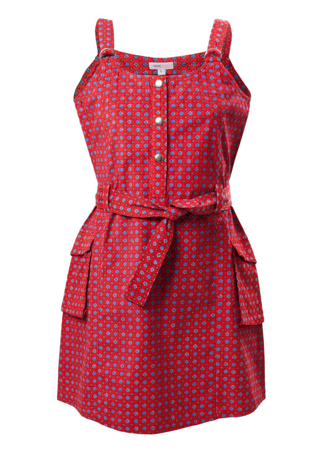 MINC Petite Fiery Flowery Spring Girls Short Dress in Printed Cotton