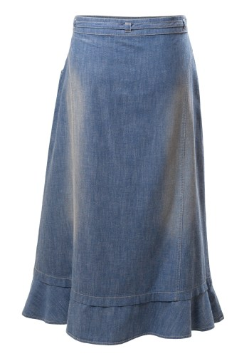 Chic Downtown Detroit Girls Denim Skirt