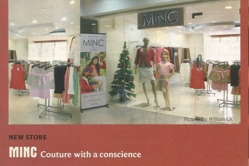 The Bengaluru Pages featuring MINC Couture with a conscience