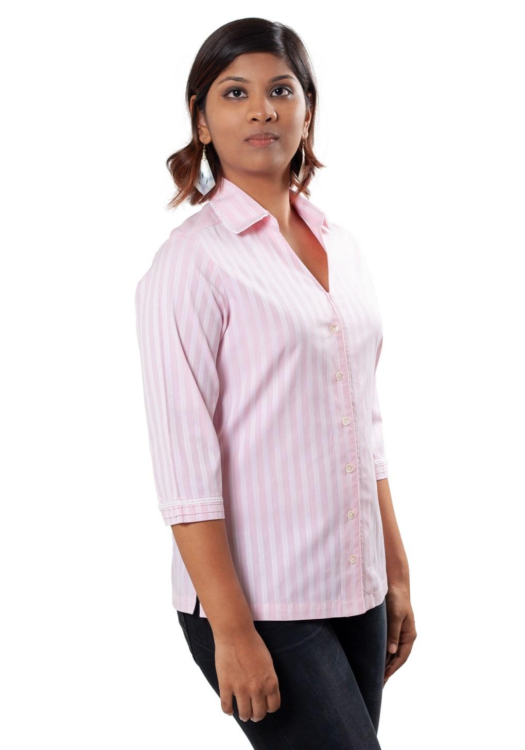 MINC ecofashion Classic Striped Pink Cotton Shirt