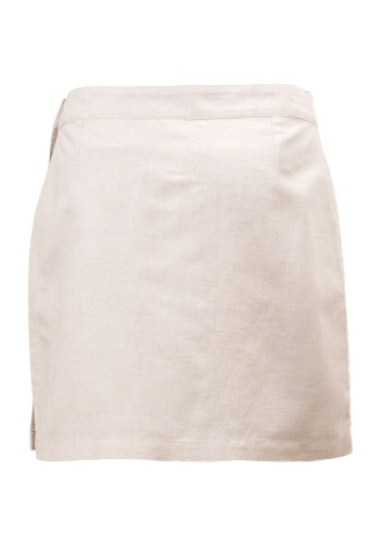 MINC Petite Embroidered Girls Skirt in Off White Linen