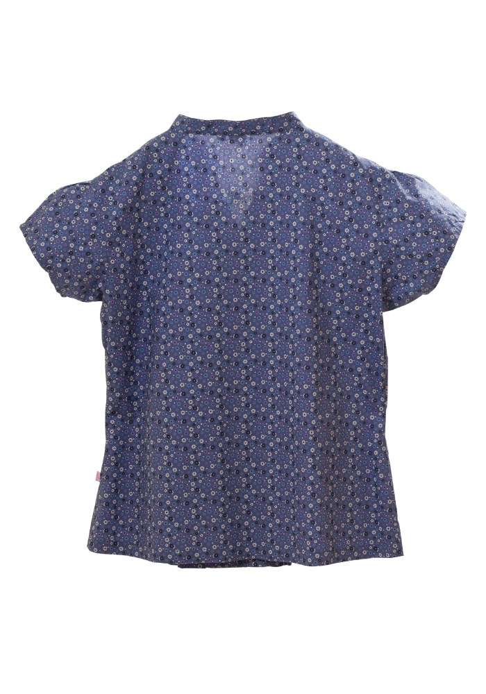 MINC Petite Girls Shirt in Blue Floral Printed Cotton