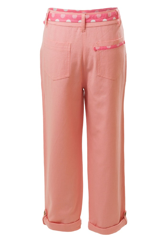 MINC Petite Kids Sunset Girls Capris in Berry Pink Linen
