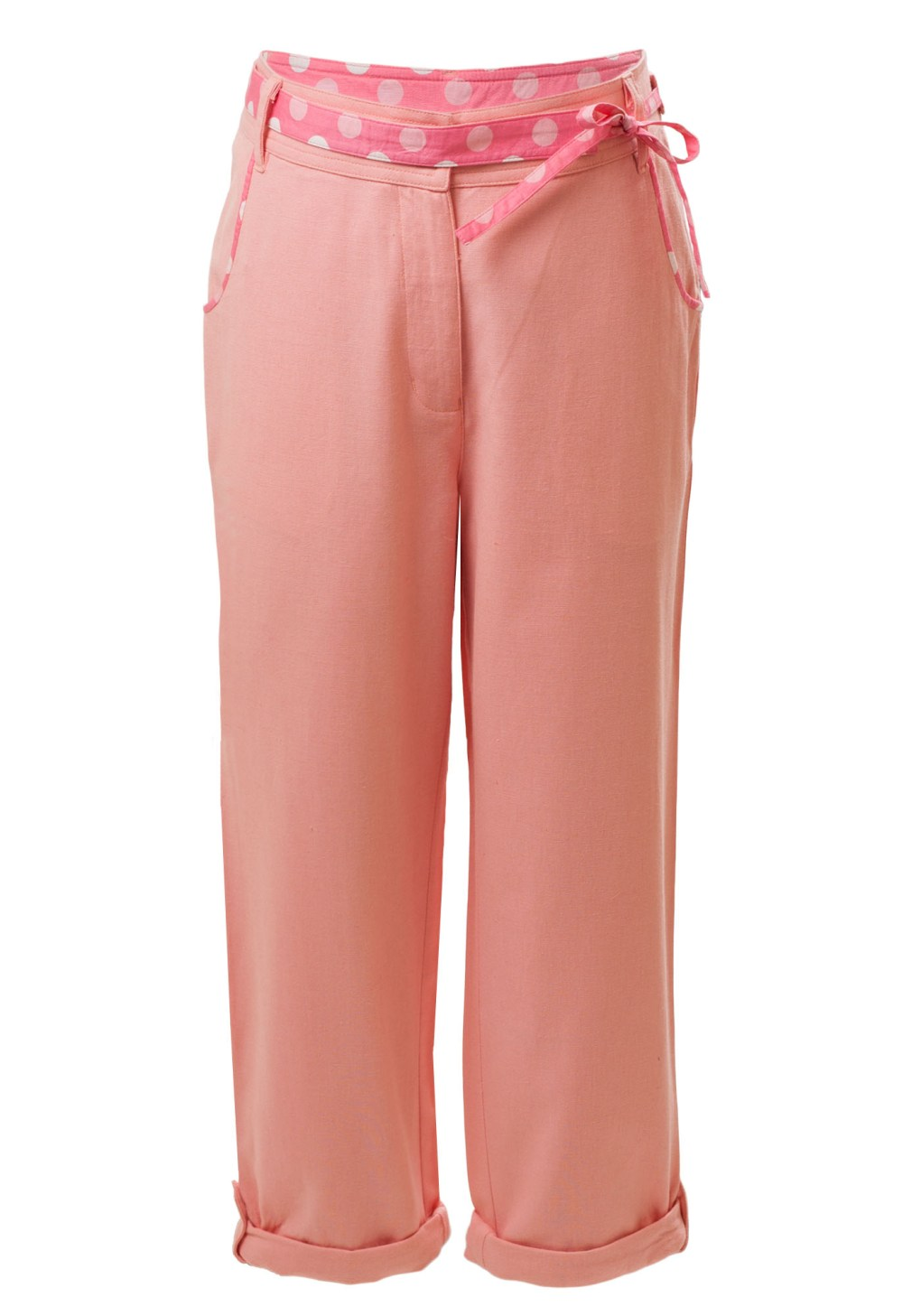 MINC Petite Sunset Girls Capris in Berry Pink Linen