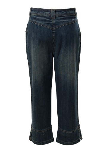 MINC Petite Thunderbolt Girls Capris in Dark Blue Denim