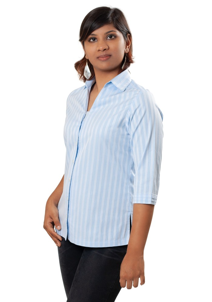 MINC Ecofashion Classic Striped Blue Cotton Shirt