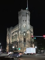 Gorgeous Buildings at night headed back into Downtown.