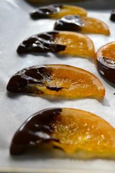 Dipped Oranges Slices