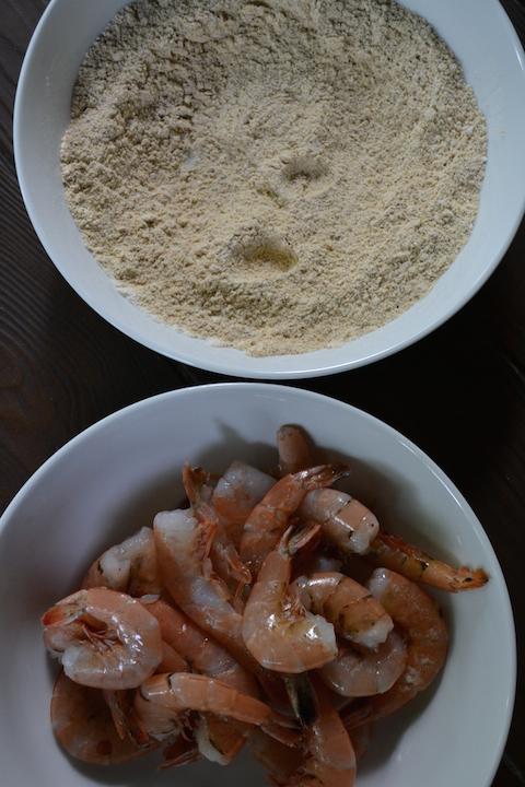 Shrimp with Cornmeal Mixture