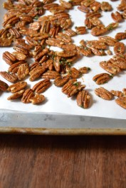 Spiced Pecans ready for the Oven