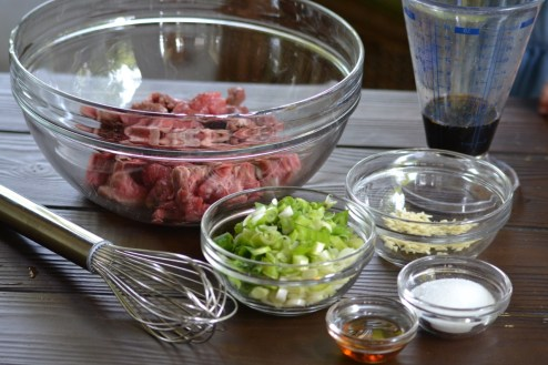 Beef with Marinade Ingredients
