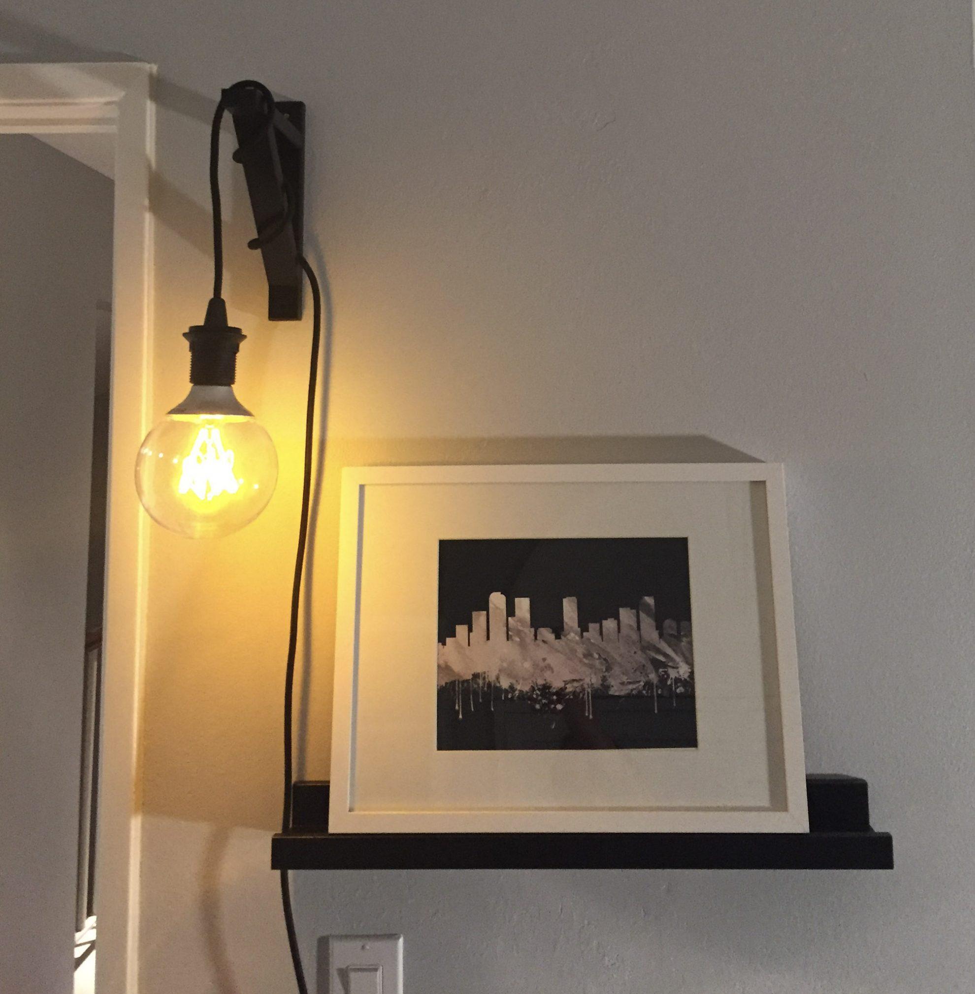 Industrial Hanging Light (IKEA Ekby Valter Hack)  MINCE