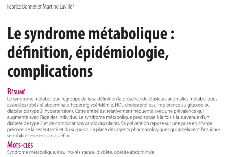 syndrome metabolique