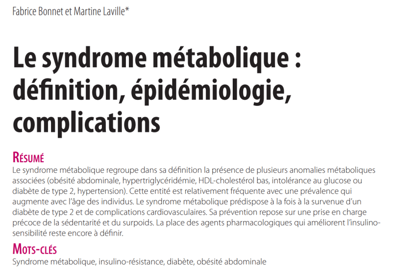 syndrome metabolique