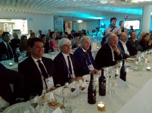 Il presidente dell'Ente Nazionale Risi, Paolo Carrà con al fianco il presidente della Provincia, Alessandro Past