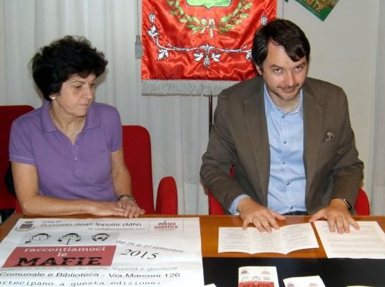 Il sindaco Nicola Leoni con il vice Maria Pia Soana