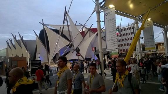 Uno dei numerosi padiglioni dell'Expo 2'015