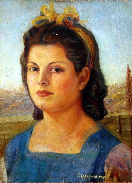 Corradelli Giovane romana (Ritratto di Adriana) 1944, olio su tavola 48x34,5