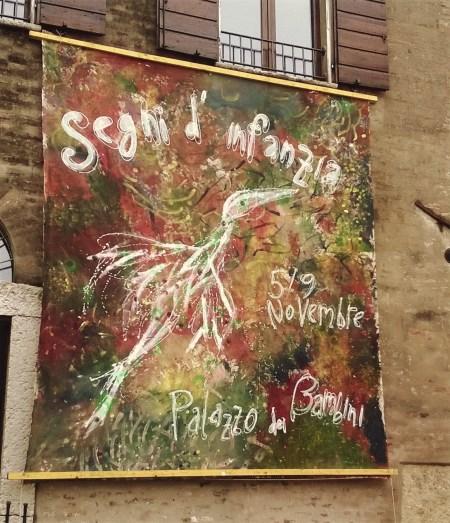 manifesto dipinto dai bambini nel 2014