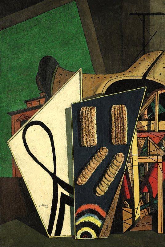 Giorgio-de-Chirico-Composizione-metafisica-1916-Olio-su-tela