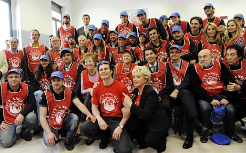Mario Furla City Angels con gli artisti italiani
