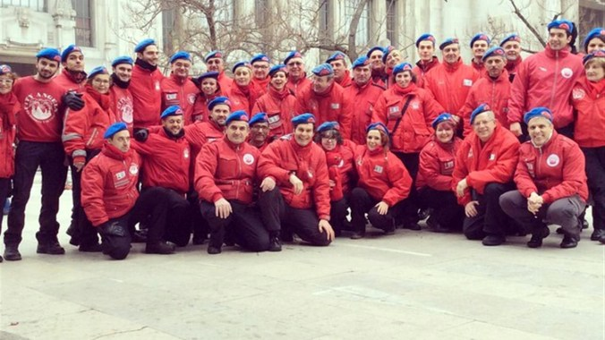 Mario Furlan e i volontari dei City Angels