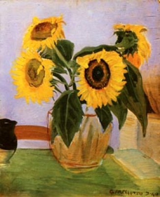 FACCIOTTO GIUSEPPE - Girasoli 1940 olio su tavola 61x51 (200).jpg