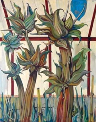 GOZZI Rinardo - Piante nella serra - 1969 olio su tela - 100x80 (200).jpg