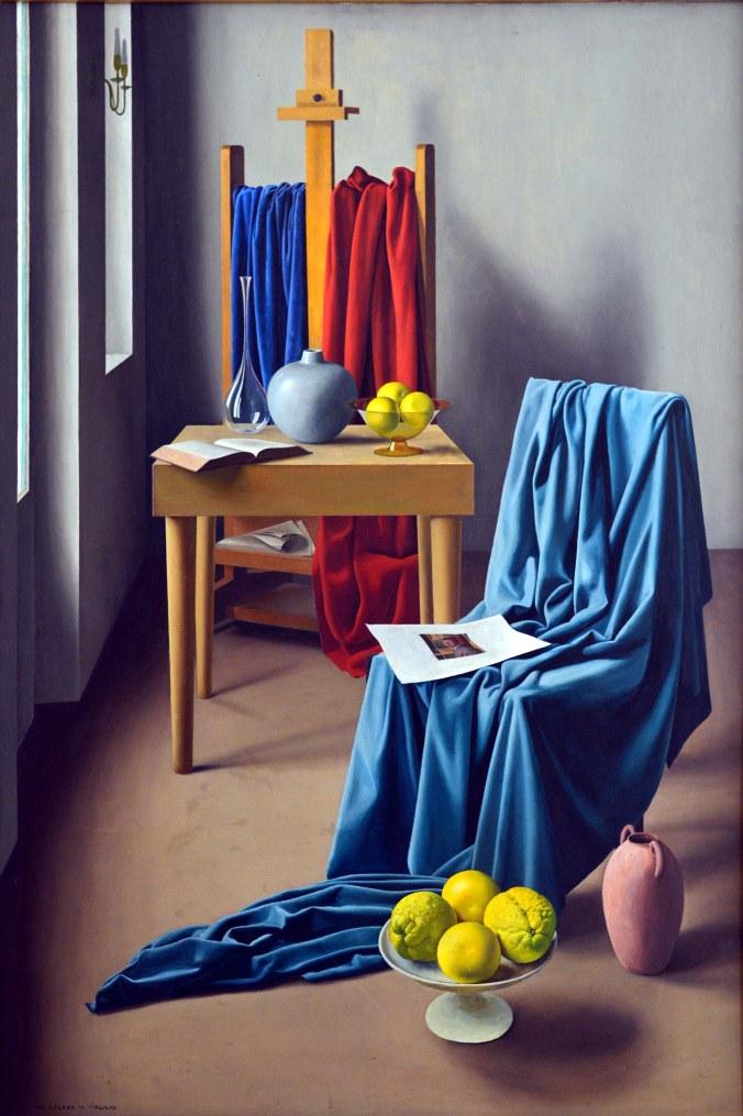 1Ugo Celada_lo studio,1947, olio su tela